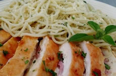 Carne com Macarrão Italiano